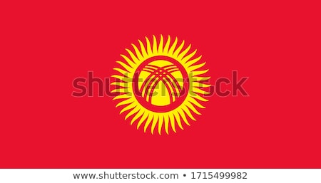 Kirgizië vlag icon geïsoleerd witte internet Stockfoto © zeffss