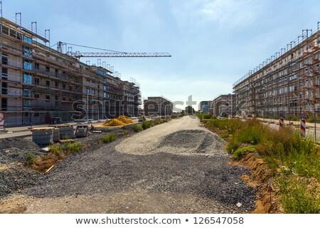 new housing area in beautiful landscape near Frankfurt  Stock photo © meinzahn