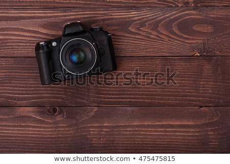 プロ · デジタル一眼レフ · カメラ · ボディ · フラッシュ - ストックフォト © erickn