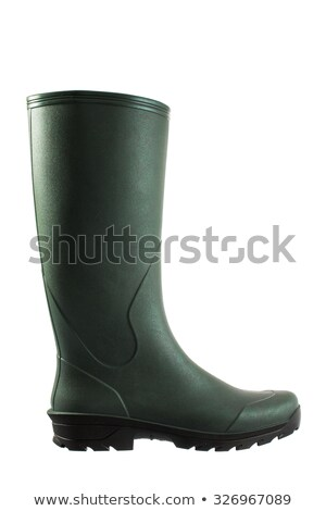 Green rubber boots on white background Stock photo © stevanovicigor