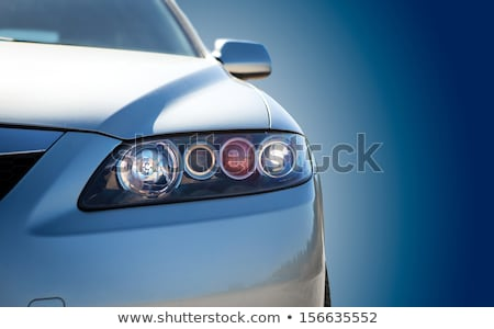 ヘッドライト 現代 車 クローズアップ レンズ 背景 ストックフォト © Mikko