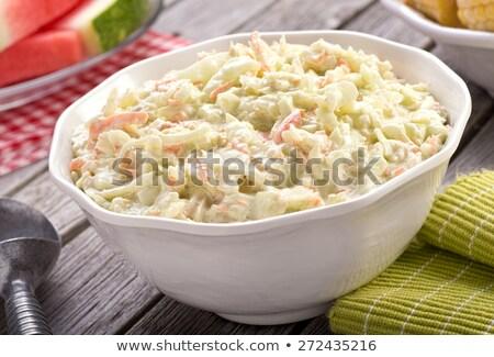 свежие капустный салат Салат пластина белый Сток-фото © ElinaManninen
