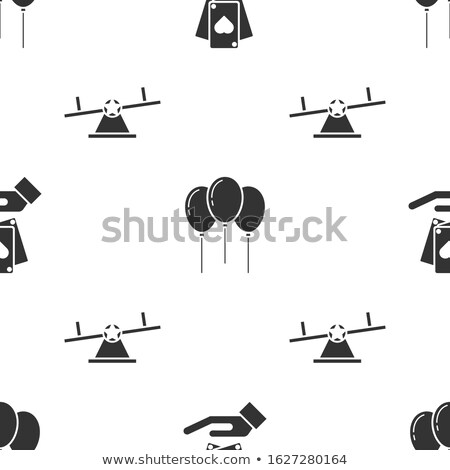 Set of seamless card suits ribbons Stock photo © elenapro