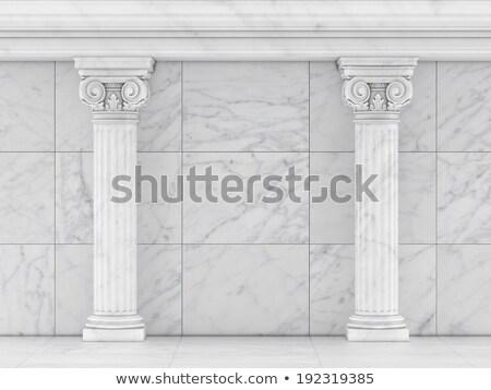 Classica greco romana ionica colonna bianco Foto d'archivio © m_pavlov