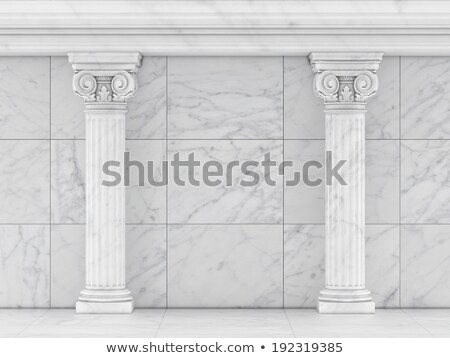 Classical Greek or Roman Ionic column Stock photo © m_pavlov