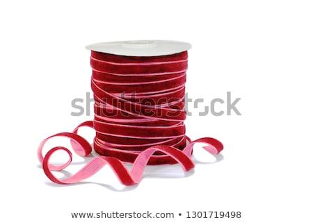 ajándék · szalag · cséve · izolált · fehér · textúra - stock fotó © natika