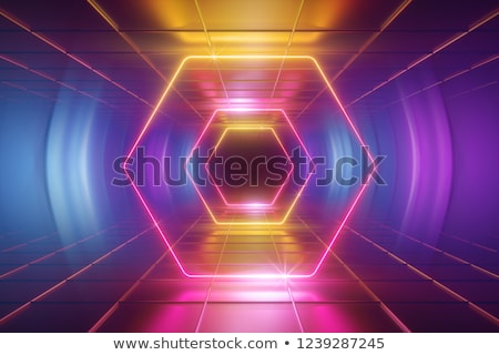 abstract yellow violet hexagons background Stock photo © marinini
