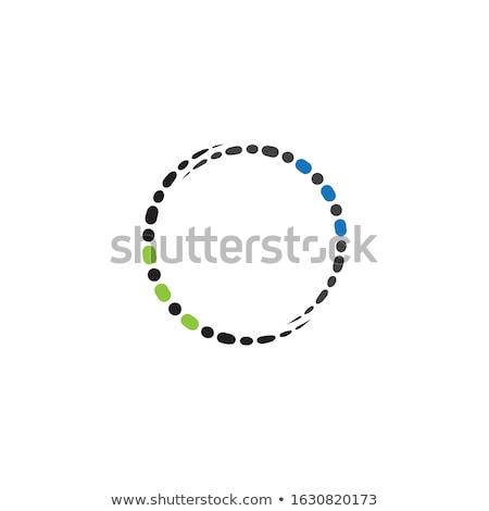 Boncuk kolye yalıtılmış beyaz cam mavi Stok fotoğraf © FOKA