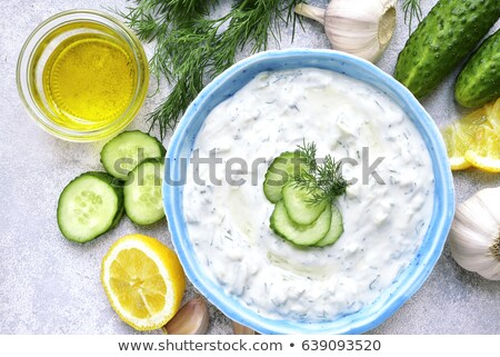 yogurt sauce with cucumber Stock photo © M-studio