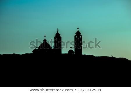 Bejárat ortodox templom fő- hatalmas fekete Stock fotó © feelphotoart