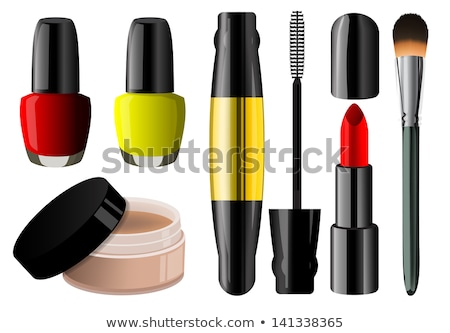 Sketch powder compact and nail polish Stock photo © kali