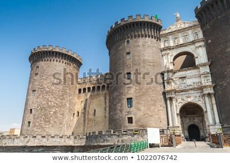 Foto stock: Castelo · Nápoles · Itália · edifício · cidade · arquitetura