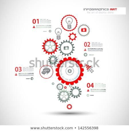 modelo · de · design · exibir · informação · estatística - foto stock © davidarts