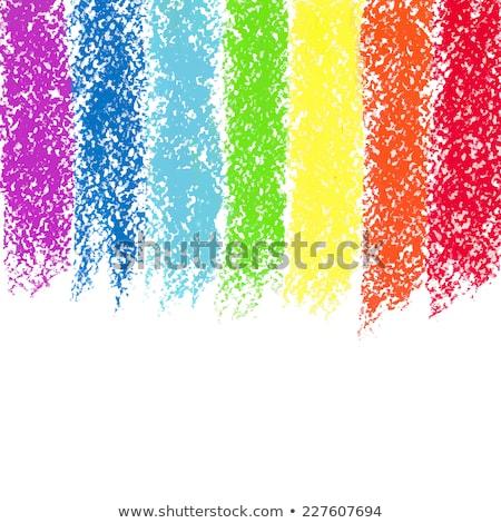 Pastel crayon pintado arco-íris vetor imagem Foto stock © gladiolus