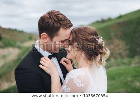 alluring bride with her husband stock photo © konradbak