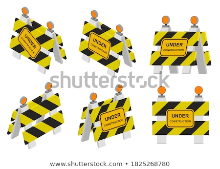 Warning Roadsigns - Set of 3D Illustrations. Stock photo © tashatuvango