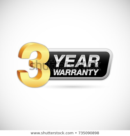 Jahre Garantie Gold Vektor Symbol Taste Stock foto © rizwanali3d