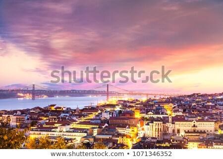 Lisboa río vista noche horizonte Portugal Foto stock © rognar