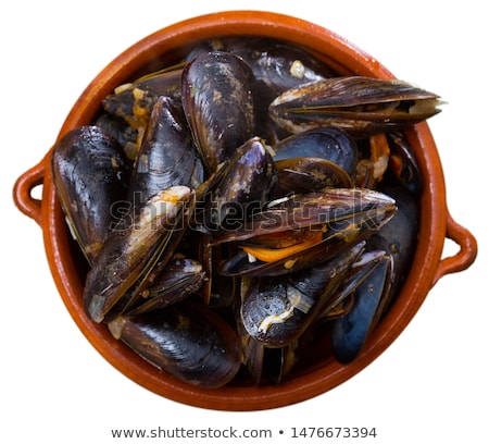 boiled mussels isolated over white background Stock photo © Antonio-S