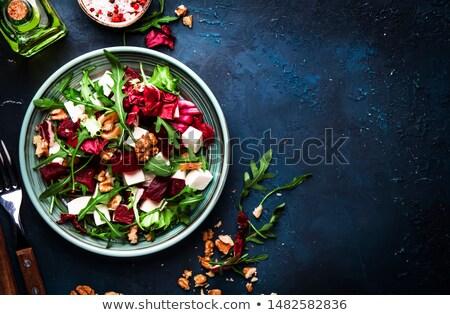 Tofu salada jantar vegetal fresco refeição Foto stock © M-studio