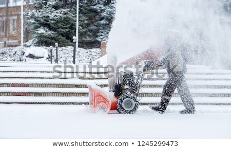 снега удаление дороги Коннектикут зима Storm Сток-фото © Vividrange