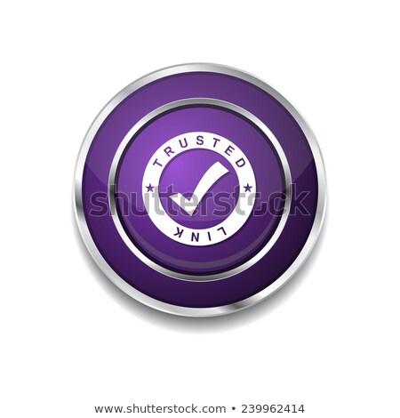 trusted link purple vector icon button stock photo © rizwanali3d