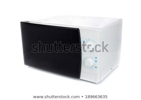 Nowego mikrofala piekarnik analog kontroli Zdjęcia stock © RuslanOmega