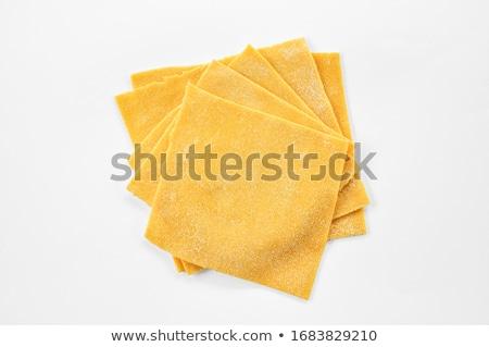 dried fettuccine pasta and lasagne background stock photo © ozgur