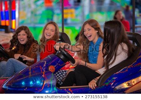 csoport · lányok · karnevál · vásár · föld · lány - stock fotó © godfer