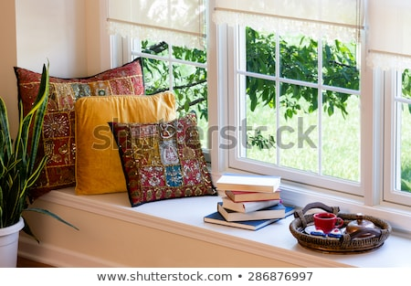 Coffee, Books and Pillows at the Reading Corner stock photo © ozgur
