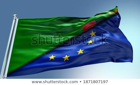 европейский Союза Замбия флагами головоломки изолированный Сток-фото © Istanbul2009