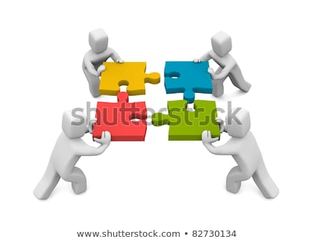 Teamwork. Business concept. Isolated. Contains clipping path Stock photo © Kirill_M