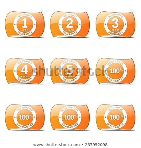 garantía · garantizar · sello · naranja · vector · botón - foto stock © rizwanali3d