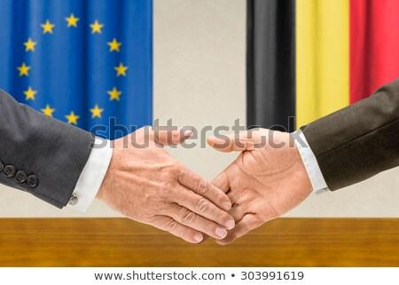 representatives of the eu and belgium shake hands stock photo © zerbor