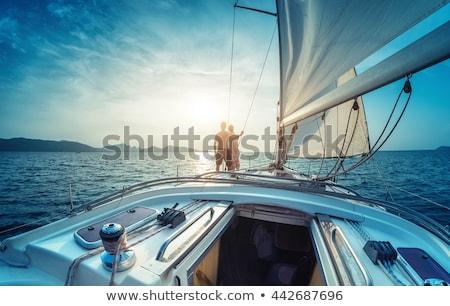 gün · batımı · deniz · güneş · manzara · yaz · turuncu - stok fotoğraf © vichie81