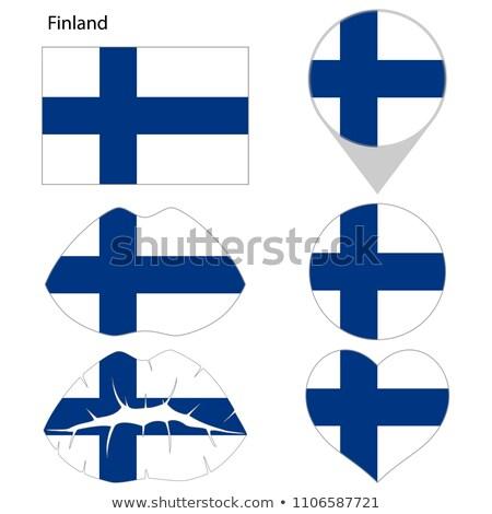 Finlandia banderą shirt człowiek biznesu człowiek Zdjęcia stock © fuzzbones0