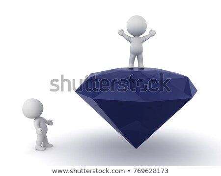 Waving diamonds or gemstones on white Stock photo © Arsgera