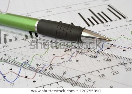 Maatregel produktiviteit heerser zwarte industrie witte Stockfoto © fuzzbones0