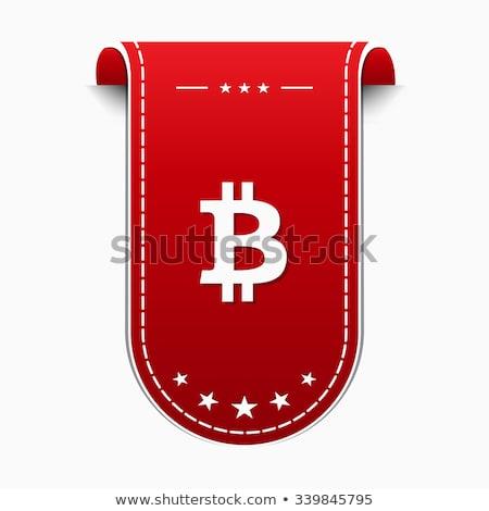 bit coin redvector icon design stock photo © rizwanali3d