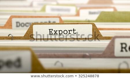 Eksport folderze nazwa kolorowy zamazany obraz Zdjęcia stock © tashatuvango
