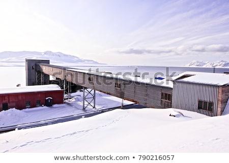 捨てられた 石炭 鉱山 交通 駅 木製 ストックフォト © dinozzaver