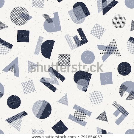 Hand Drawn Uppercase Letters Seamless Pattern Stock photo © Voysla