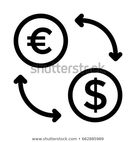 евро знак желтый вектора икона кнопки Сток-фото © rizwanali3d