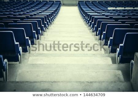 Plastik mavi futbol stadyum futbol spor Stok fotoğraf © Julietphotography
