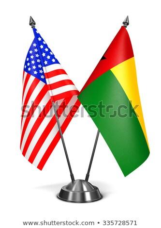 USA miniatura bandiere isolato bianco sfondo Foto d'archivio © tashatuvango