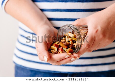 Homemade granola breakfast with dried fruit Stock photo © nalinratphi