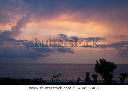 оранжевый драмы закат темно мрачный морем Сток-фото © Paha_L