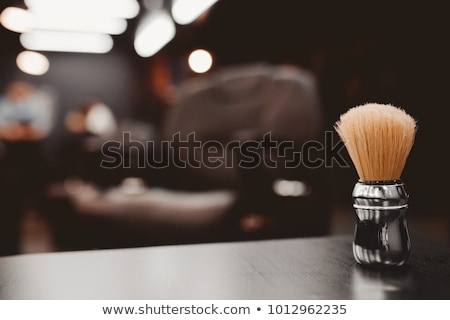 szett · izolált · fehér · arc · férfiak · retro - stock fotó © netkov1