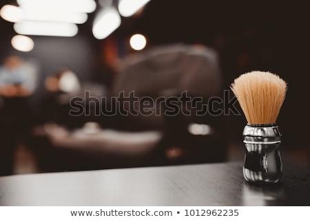 ingesteld · vintage · communie · schaar · scheermes · borstel - stockfoto © netkov1
