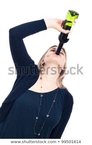 Pretty Wine Drinker Stock photo © fouroaks